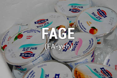 Cups of Fage yogurt