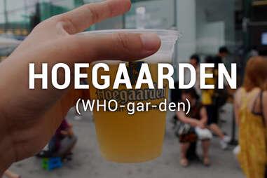 Hoegaarden beer in cup