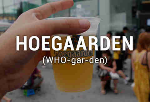 Hoegaarden beer in cup