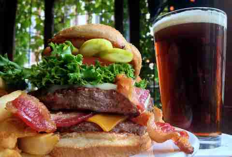 town pump tavern burger and beer