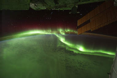the southern lights from the ISS