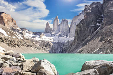 Cerro Torre mountains in Argentina/Chile