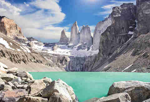 Cerro Torre mountains in Argentina/Chile
