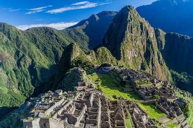 Huayna Picchu mountain in Peru