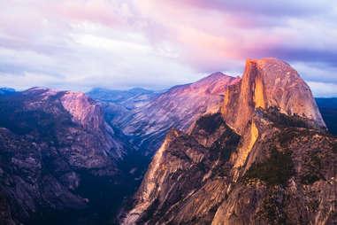 Half Dome mountain in California