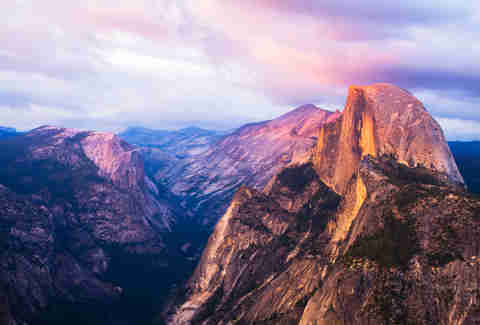 Half Dome mountain in California