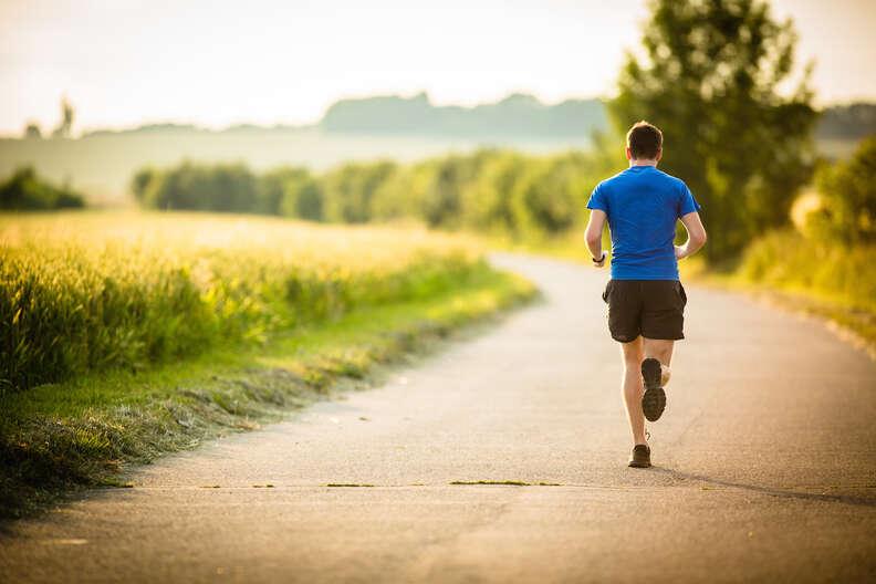 running, running outdoors, man running