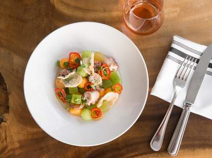 Octopus Dish at Bluestem Brasserie