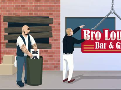 bar closing illustration