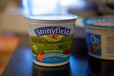 Stonyfield fat free yogurt