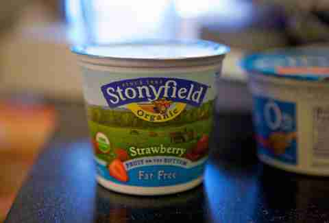 Stonyfield fat free yogurt