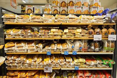 bread at a supermarket