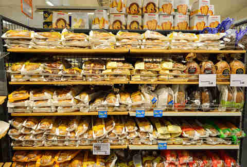 bread at a supermarket