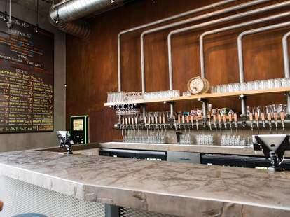 Interior of Bar at Brewcade