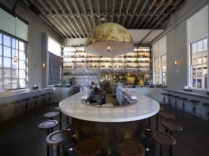 Interior of Bar at Hard Water