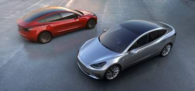 The Tesla Model 3 has no front grille