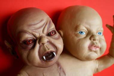 creepy devil baby doll