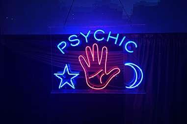 neon sign psychic