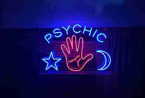 neon sign psychic