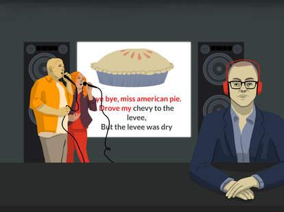 Classic Rock songs, American Pie, Bad karaoke