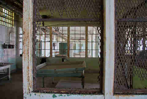 Old Alcatraz laundry room