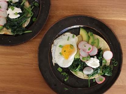Huevos Ranceros at Sequoia Diner