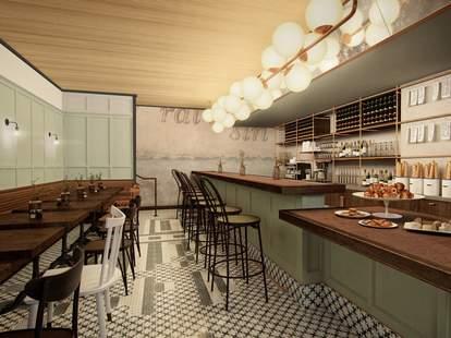 Interior at Klyde Cafe & Wine Bar