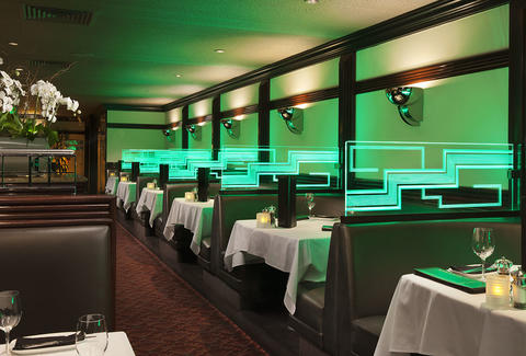 Interior of Dining Room at Osso Steakhouse