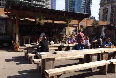outside at The Ginger Man ATX Craft Beer Bars