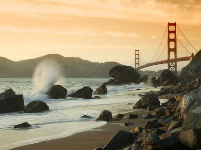 Golden Gate Bridge Seen from Marshall Beach