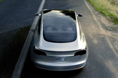 The rear window on the Model 3 is huge