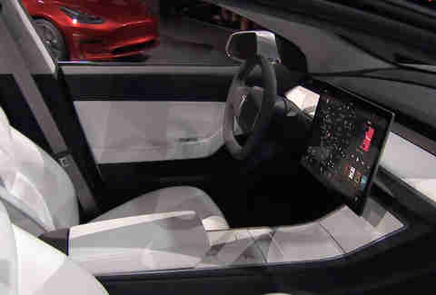 The Tesla Model 3 Interior seems downright Plush