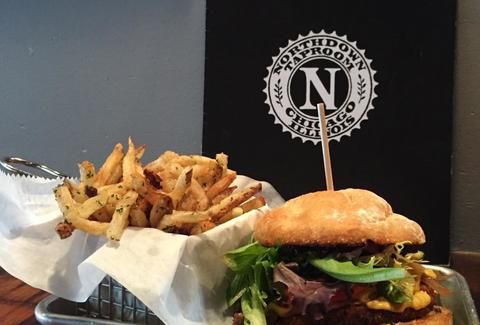 Northdown Cafe and Taproom burger fries chicago thrillist
