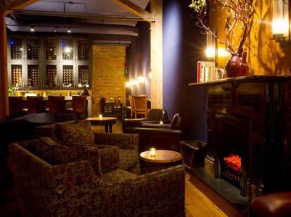 Fireplace and Chairs at The Hidden Vine