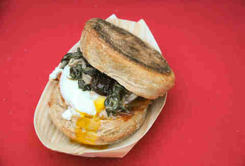 Breakfast sandwich from Red Table Catering