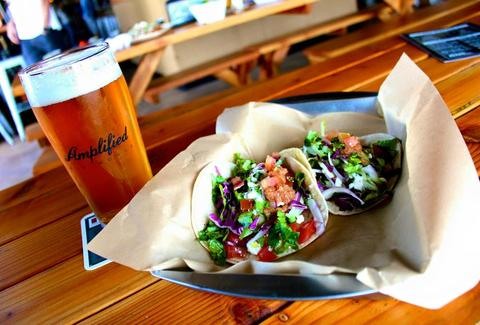 Amplified Ale Works taco san diego california thrillist