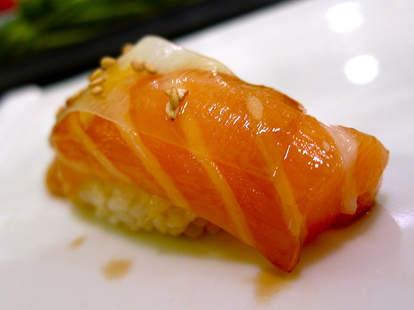Salmon with White Thin Kelp at Nozomi thrillist