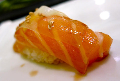 Salmon with White Thin Kelp at Nozomi thrillist