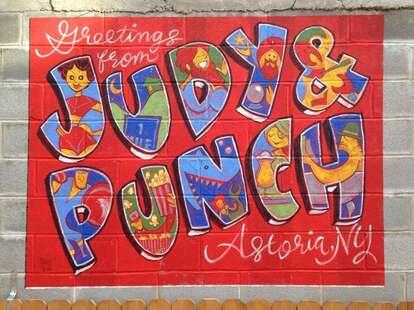 Judy & Punch wall art astoria new york thrillist beer