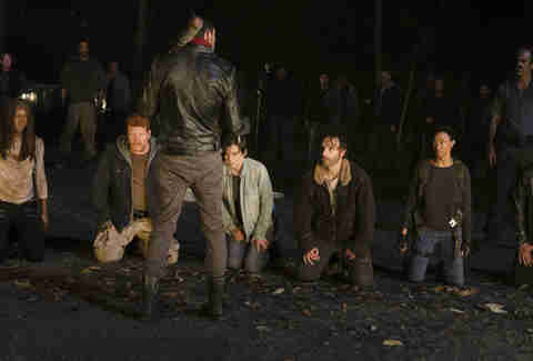 the walking dead cliffhanger - who negan killed
