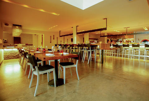 interior of dining room at local kitchen wine merchant san francisco - Local Kitchen Sf