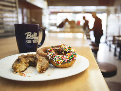 Coffee and Donuts at Bob's Donut & Pastry Shop