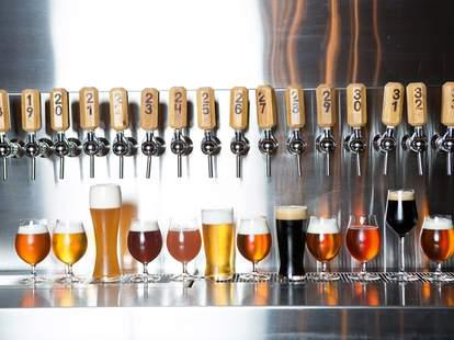 Beer taps at Edmund's Oast