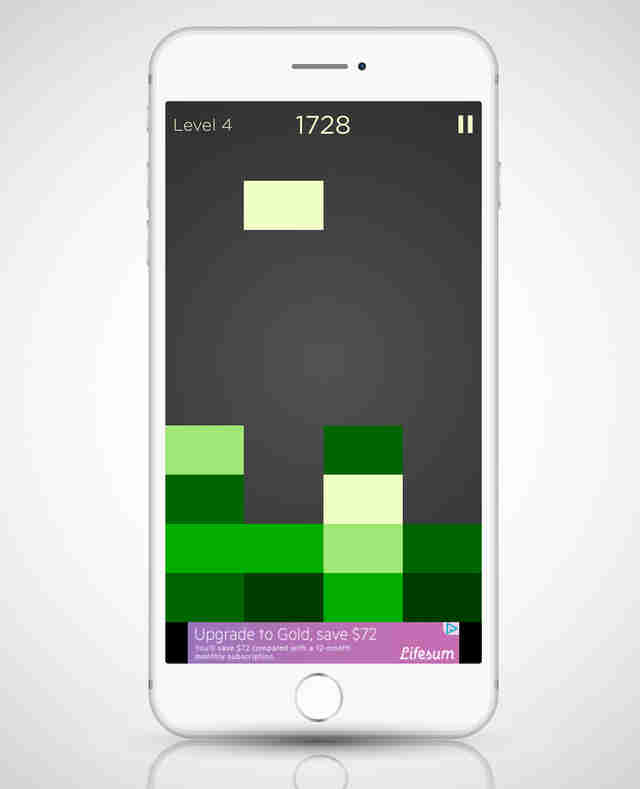 screenshot of shades game app on iphone 6