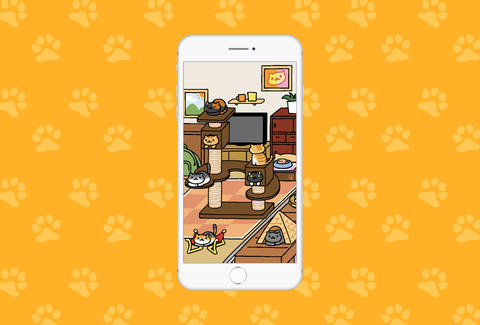 neko atsume screenshot in iphone 6