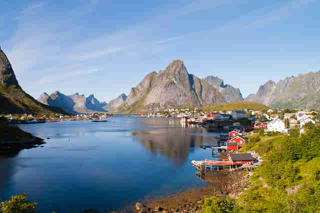 Lofoten Fishing Village in Norway