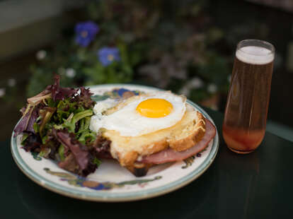 Croque with Mimosa at Zazie
