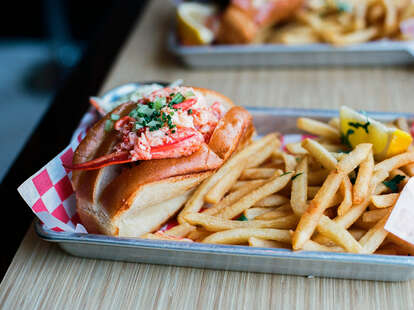 Lobster Roll at Woodhouse Fish Co