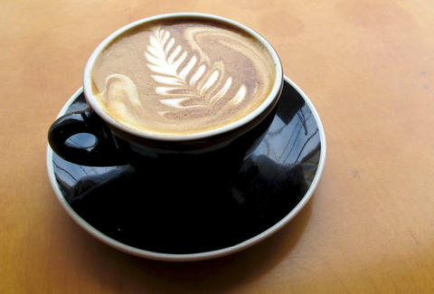 Latte at Contraband Coffee