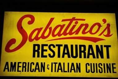 Sabatino's Restaurant sign in Chicago